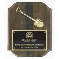 "12"" X 15"" Ceremonial Shovel Plaque"