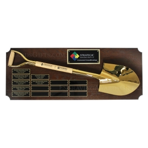 "Custom 42"" x 16"" Perpetual Shovel Plaque"