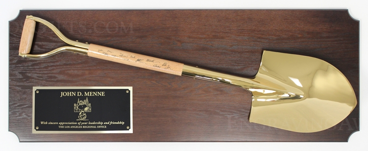 """42"""" x 16"""" Full Size Ceremonial Shovel Plaque - Traditional Style Shovel, Personalized"""