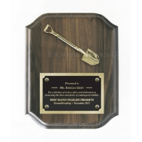 "8"" x 10"" Walnut Ceremonial Shovel Plaque"