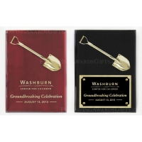 "9"" x 12"" Piano Finish Ceremonial Shovel Plaques"