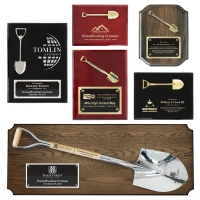 Ceremonial Shovel Plaque Awards