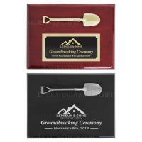 "8"" x 6"" Piano Finish Ceremonial Shovel Plaques"