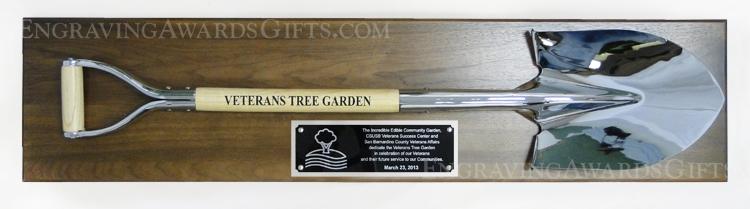 Full Size Ceremonial Shovel Award Plaque - Personalized