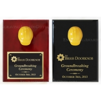 "9"" x 12"" Assorted Colors Ceremonial Hard Hat Plaques"