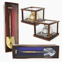 Ceremonial Shovel & Hard Hat Display Cases