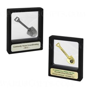 Miniature Shovel Illusion Display Case