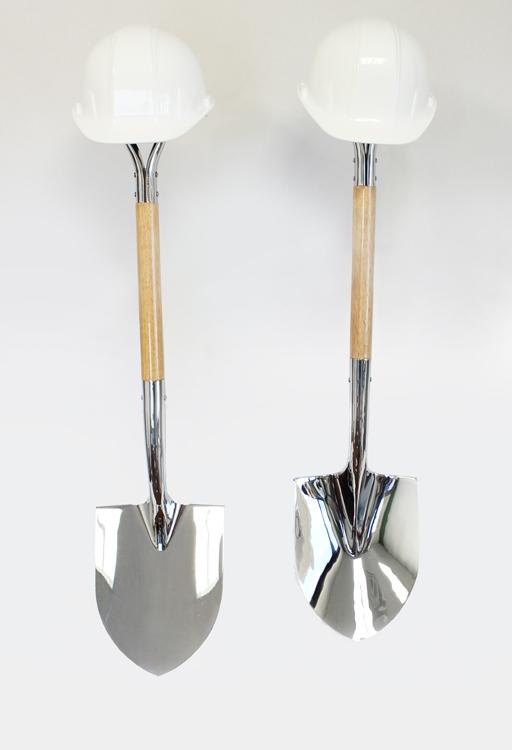 Deluxe Chrome Ceremonial Groundbreaking Shovel Kits