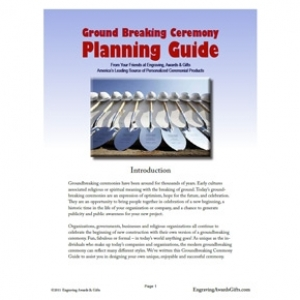 FREE Ceremonial Shovels Groundbreaking Guide