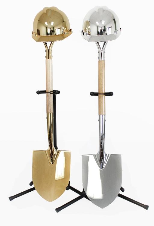 Ceremonial Shovel & Hard Hat Display Stands