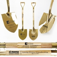 Full Size Gold Ceremonial Groundbreaking Shovels