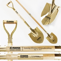 Traditional Style Spade Gold Plated D-Handle Shovels