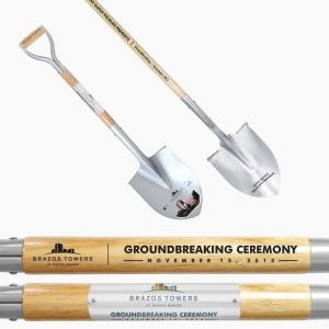 Silver Painted Ceremonial Shovels