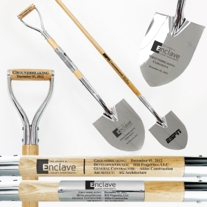 Specialty Spade Chrome Plated Ceremonial Shovels