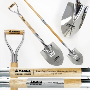 Traditional Chrome Plated Ceremonial Shovels