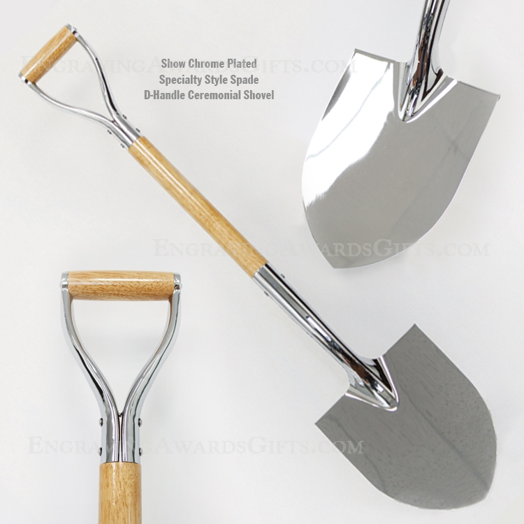 Specialty Spade Chrome Plated D-Handle Shovels