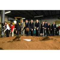 Groundbreaking Ceremony with Chrome Plated Shovels