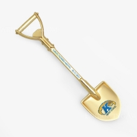 "6-3/4"" Gold Plated Ceremonial Shovel"