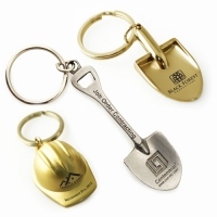 Ceremonial Shovel & Hard Hat Keychains