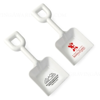 "8"" White Plastic Ceremonial Shovels"
