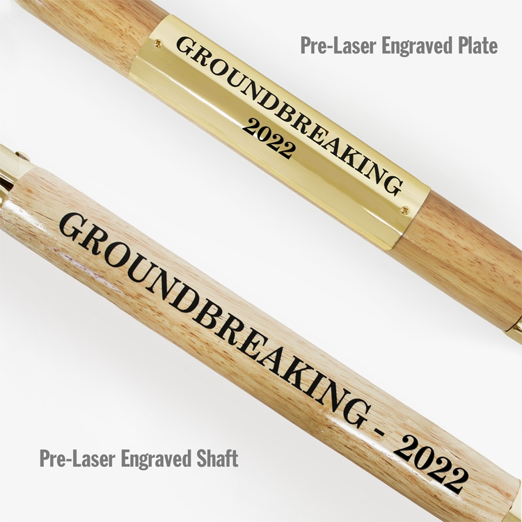 Pre-Laser Engraved Shaft and Plate Options
