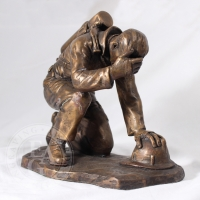 Bronze Firefighter Statue