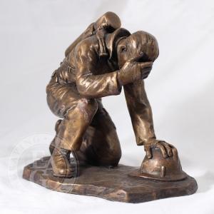 Bronze Firefighter Statue