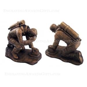 Bronze Fireman Statues