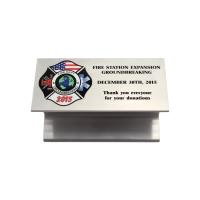 Custom I-Beam for Fire Station Groundbreaking