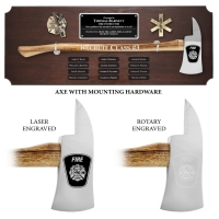 Large Genuine Walnut Ceremonial Perpetual Axe Plaques