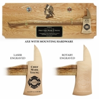 Large Oak Ceremonial Axe Plaques