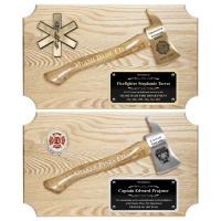 Ceremonial Firefighter Small Axe Plaques Oak