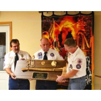"Ceremonial Firefighter 36"" Brass Axe Walnut Plaque Award"
