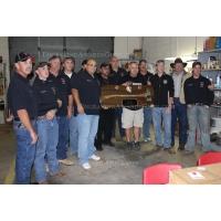 "Ceremonial Firefighter 36"" Chrome Axe Walnut Plaque Award"