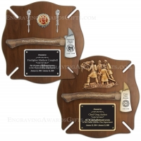 Genuine Walnut Maltese Ceremonial Axe Plaque
