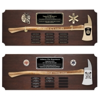 Large Genuine Walnut Ceremonial Axe Perpetual Plaques