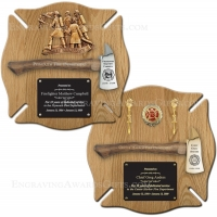 Oak Maltese Ceremonial Axe Plaques