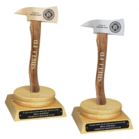 Oak Ceremonial Axe Award Pedestals