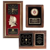 Engraved Firefighter Clock Awards