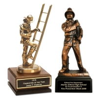 Engraved Firefighter Figurine Awards