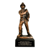 Resin Male Firefighter Figurine