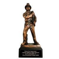 Resin Male Firefighter Figurine