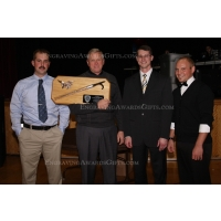 Ceremonial Pike Pole Plaque given a 40-Year Service Award