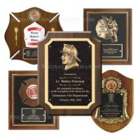 Engraved Firefighter Plaque Awards