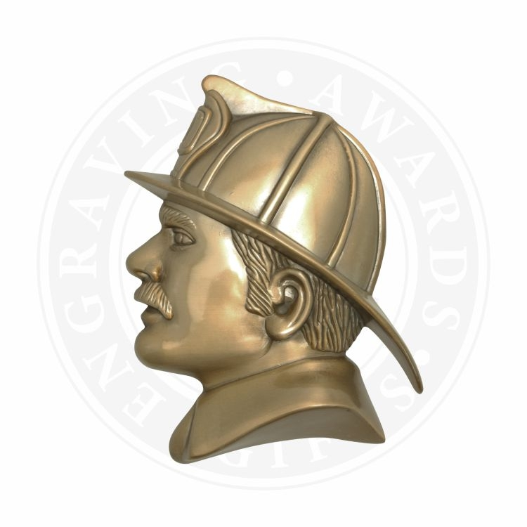 Fireman's Head Metal Casting