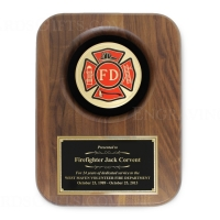 Genuine Walnut Plaque Award with VFD Disc