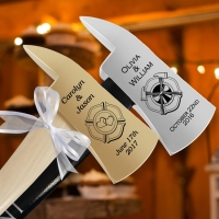 Engraved Wedding Firefighter Axes (For Cake Cutting)