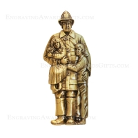 Metal Casting: Fireman with Children