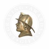 Metal Casting: Small Fireman's Head