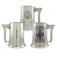 Axe Handle Pewter Firefighter Mugs
